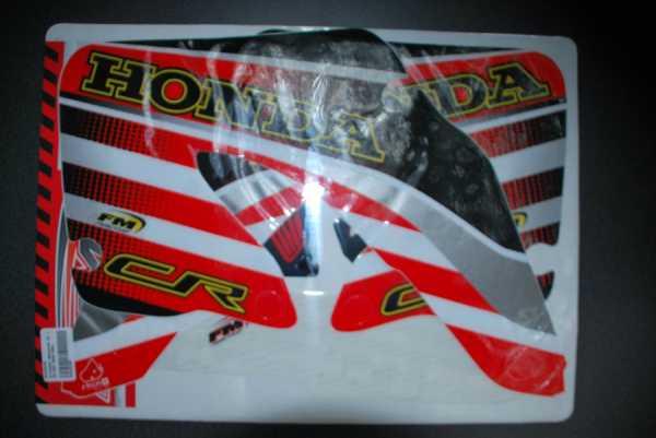 Kit déco FM RACING HONDA CR 125/250 00-01. Crédits : ©EMX