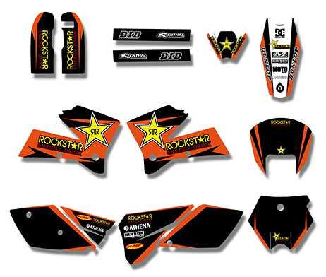 Kit déco XPARTS KTM SX/SXF 05-06 KTM EXC/EXCF 05-07. Crédits : ©accessoires-moto-enduro-cross.fr 2017