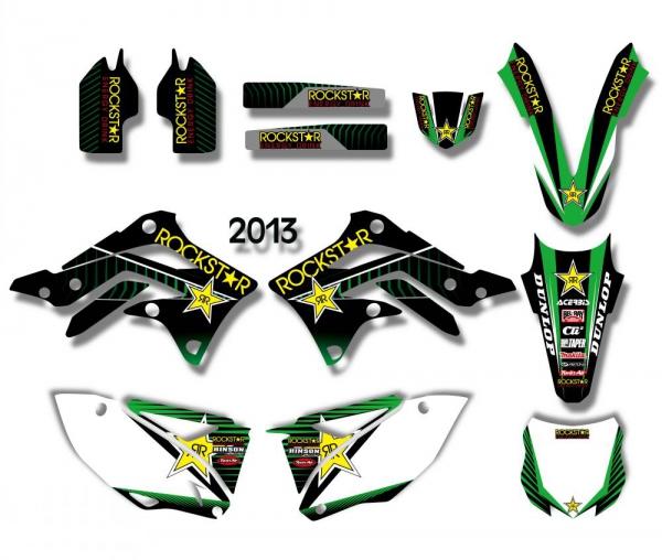 KIT DECO XPARTS KAWASAKI KXF 450 13-15. Crédits : ©accessoires-moto-enduro-cross.fr 2017