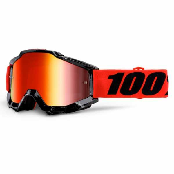 Lunettes Cross 100% The Accuri Inferno Miroir Red. Crédits : ©accessoires-moto-enduro-cross.fr 2015