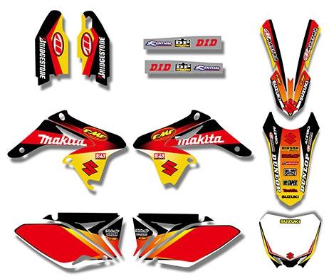 Kit déco XPARTS SUZUKI RMZ 250 10-18. Crédits : ©accessoires-moto-enduro-cross.fr 2016