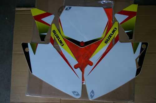 Fonds de plaques ONE INDUSTRIES SUZUKI RMZ 250 07-09. Crédits : ©accessoires-moto-enduro-cross.fr 2016