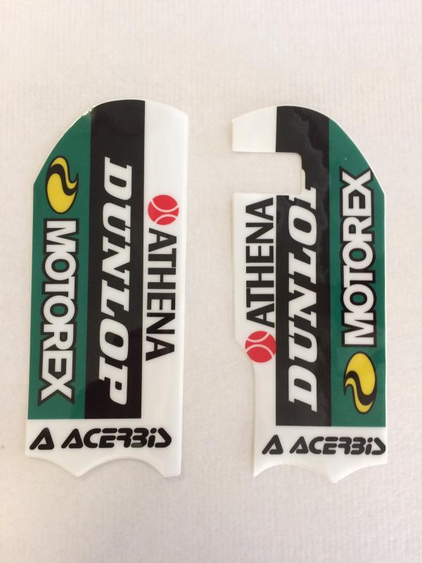 AUTOCOLLANTS DE PROTECTIONS DE FOURCHE KTM SX 65 09-19. Crédits : ©accessoires-moto-enduro-cross.fr 2018