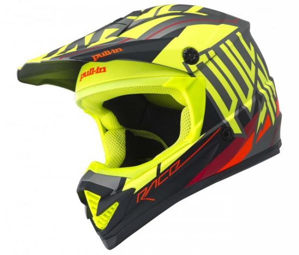 CASQUE CROSS PULL-IN MOTO NEON YELLOW 18. Crédits : ©accessoires-moto-enduro-cross.fr 2018